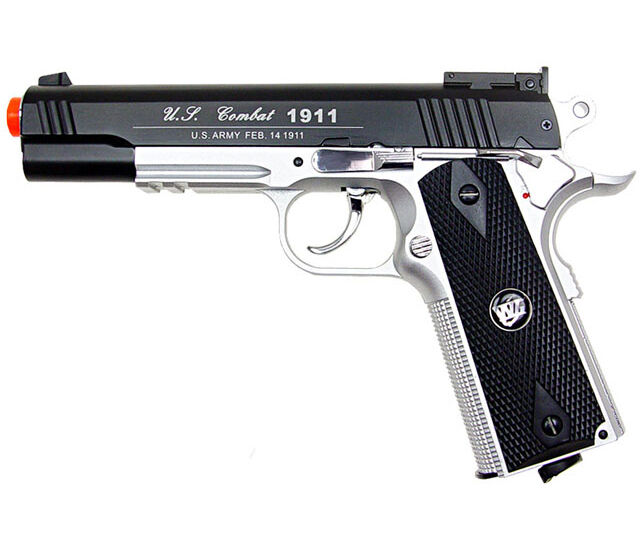 500 FPS NEW WG AIRSOFT FULL METAL M1911 GAS CO2 HAND GUN PISTOL w/ 6mm BB BBs
