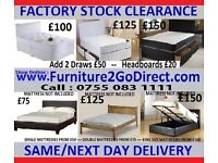 Staggering selection of bed and mattress sale