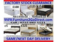 Selection of new bed and mattress sale