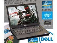"""Dell Intel i5 2.67GHz laptop, 4GB RAM, 160GB HD, 14"""" Screen, HDMI, Wifi, Intel HD, Photoshop, Office"""