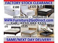 Modern bed and mattress sale
