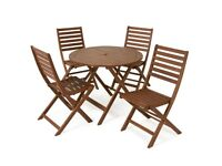 Wooden Patio Set (x4 chairs)