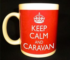 BRAND NEW KEEP CALM AND CARAVAN GIFT MUG CUP CARRY ON COOL BRITANNIA CLUB