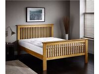 **14-DAY MONEY BACK GUARANTEE!** High Footend Solid Pine Bed with Mattress Option - SAME DAY!