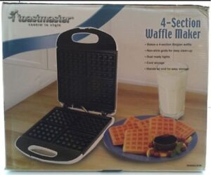 Toastmasters Waffle Maker - 4 Section - New