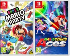 Super Mario Party  + Mario Tennis Aces Nintendo Switch - BRAND NEW