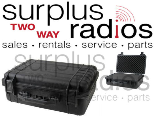 "Tactical Weatherproof Equipment Case Vertex Icom Motorola CP200 radios 22"""