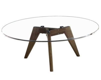SOPHIA ROUND TEMPERED GLASS COFFEE/DINING TABLE