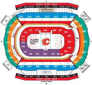 Calgary Flames vs Buffalo Sabres - Jan. 16th -Sec 107 Row 1