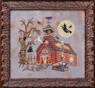 GLENDON PLACE Cross Stitch Pattern Chart GHOOL SCHOOL Halloween