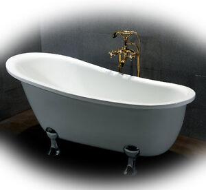 Vasca da bagno con piedini 165 x 80 cm modello classico retrò  eBay
