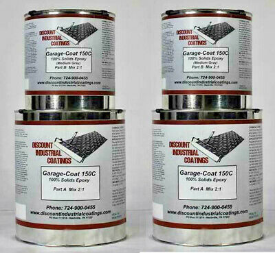 Garage-coat 150 Clear 2-part 100 Solids Epoxy Concrete Floor Coating 3 Gallons