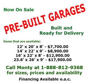 Pre Built Garage for Sale