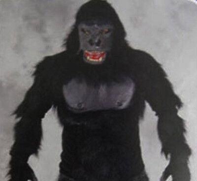 Gorilla Ape Monkey Adult Halloween Costume Mask Gloves Shirt  Chest Zagone - Monkey Costume Adult