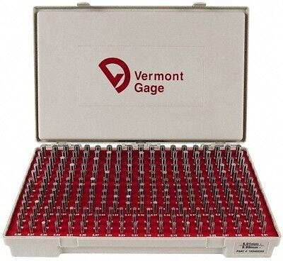 Vermont Gage 250 Piece 5.01-9.99 Mm Diameter Plug And Pin Gage Set Minus 0.0...
