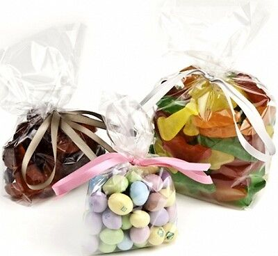 Crystal Clear Gusseted Cello Poly Plastic Bags Candy Cookie 1.5 Mil - MULTI SIZE