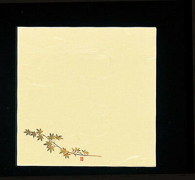 100 Sheets! Japanese Kaishi Paper: Decorative Table Mat: Green Maple 15 x 15 cm