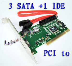 VIA-VT6421A-3-SATA-1-Port-IDE-PCI-RAID-Controller-Card
