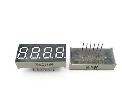 2pcs 0.36 Inch 4 Digit Led Display 7 Seg Segment Common Cathode Red New