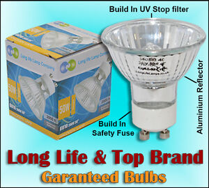 10-LONG-LIFE-GU10-50w-Halogen-Light-Bulb-6-98delivered