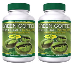 Green Coffee Bean Extract 120CT 800MG GCA® SVETOL Weight Loss Diet Pills Capsule