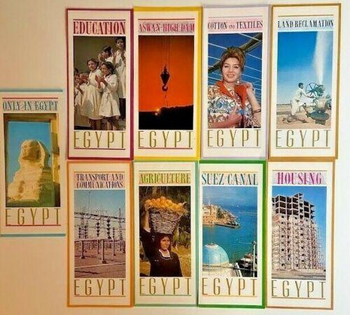 9 TRAVEL BROCHURES ON EGYPT 1960