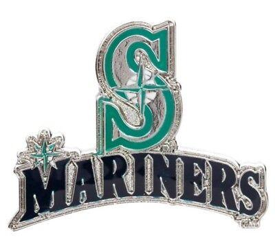 Seattle Mariners MLB Baseball Logo & Script Design Sports Pin Licensed by Aminco