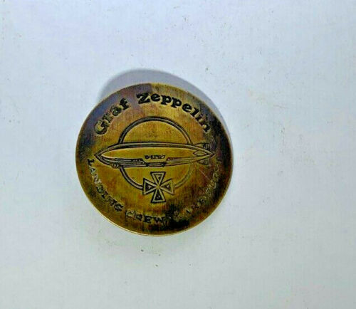 Graf Zeppelin Landing Crew Lakehurst Solid Brass Finish WESTERN BADGE PIN 168