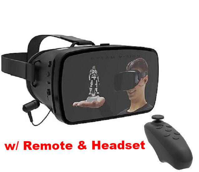 TZUMI Virtual Reality 3D Glasses VR Headset w/Controller for Galaxy S7 S8 S9 S10