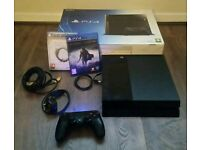 Playstation 4 500GB Boxed with Controller and 2 games