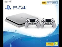 PS4 SLIM 500GB PLUS GAME LIKE NEW ONLY 4 WEEKS OLD.