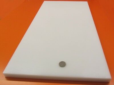 Hdpe Polyethylene Sheet White .750 34 Thick X 12 Wide X 24 Length