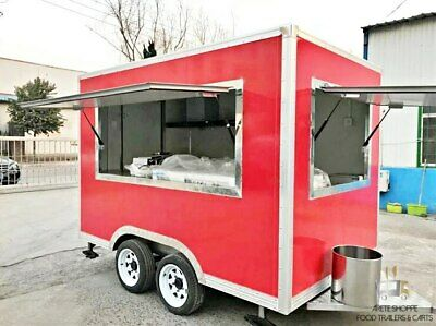 11ft Box Mobile Food Cart Trailer - Made To Order Stainless Steel Custom Truck