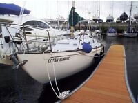 Rival 32 Fin Keeled Yacht built by Marine Projects in 1971. Powered by a Yanmar 20HP Inboard Diesel