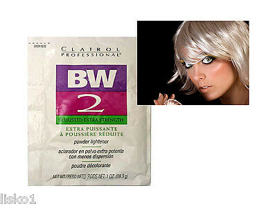 CLAIROL BW2 Hair Bleach Powder Lightener , DEDUSTED x-tra Strength 1oz. pk   LMS