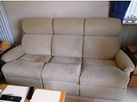 Lounge Suite. 3 & 2 Seat Sofas and Storage Stool