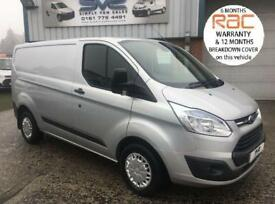 2014 64 FORD TRANSIT CUSTOM TREND SWB 125 BHP WITH RARE TAIL GATE AIR CON CRUISE