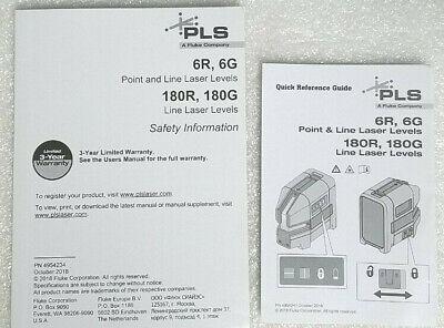 Pls Owners Manual For 6r 6g 180r 180g Laser Models