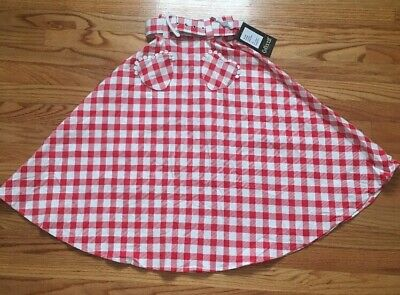 Collectif Violetta Vintage Look Red And White Gingham Swing Skirt XXXS](Red Gingham Skirt)