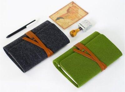 Vintage Spiral Refillable Felt Bandage For Filofax Travel Journal Planner Binder