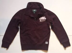 ROOTS KIDS Collared Sweater Small 5/6 Long Sleeve Zipper