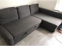 IKEA FRIHETEN GREY L-SHAPED SOFA BED GREAT CONDITION CAN DELIVER