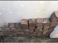 Red stone edging blocks