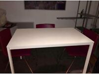 IKEA MELLTORP TABLE AND 4 BERNHARDT CHAIRS AS NEW CAN DELIVER RRP £435