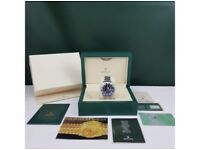 Complete Set Silver Black Rolex Submariner comes Rolex Boxed with Paperwork ⏱