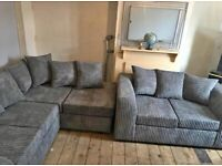BRAND NEW DYLAN JUMBO CORD FOAM SEATED CORNER OR 3+2 SEATER SOFA AVAILABLE IN STOCK