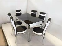 BRAND NEW DINING TABLE WITH 6 CHAIRS - PRICE NOW DOWN