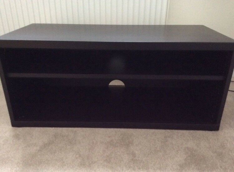 Black TV bench
