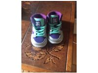 Girls DC trainers size 4