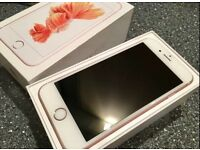 Apple iPhone 6s Rose gold 64gb on 02 immaculate condition still got warranty until September 2017